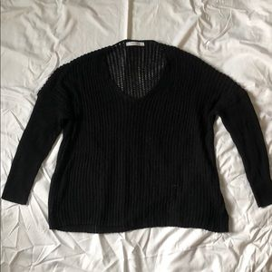 Nordstrom black knit sweater